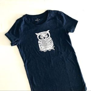 J. Crew Navy with white owl graphic. Adorable! XS